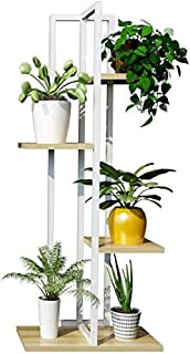 Flower stand Multilayer Flower Rack 4Tier Iron Flower Stand/Flower Racks for Living Room Balcony and Multifunction Indoor/...