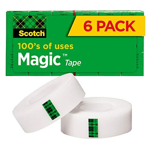 Scotch Magic Tape, 6 Rolls, Nume...