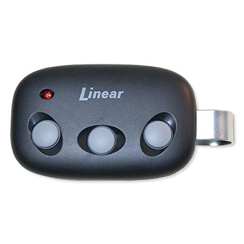 Linear Megacode Mct-3 3-Channel Visor Transmitter, Black