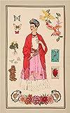 Alexander Henry Stoff mit Frida Kahlo Schmetterlingen und
