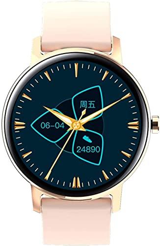 DHTOMC Reloj inteligente para hombre, compatible con llamadas Bluetooth para hacer/recibir llamadas y obtener el modo multideportivo rastreador de fitness-Rosa