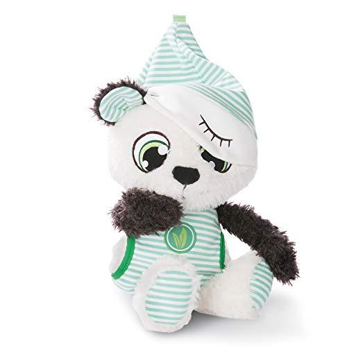 NICI Schlafmützen Pandalino, Mint-weißem Pyjama, Kuscheltier Teddybär, Süßer Plüschtier, Flauschiges Stofftier als Einschlaf-Hilfe, Plüsch-Bär Schmusetier I 45670, 38 cm