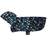 RC Pet Products Packable Dog Rain Poncho, Pitter Patter Chocolate, XX-Large