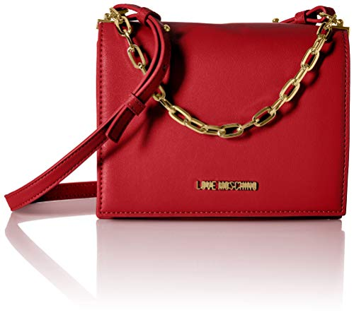 Love Moschino Damen Borsa Smooth Pu Kuriertasche, Rot (Rosso), 8x15x21 centimeters
