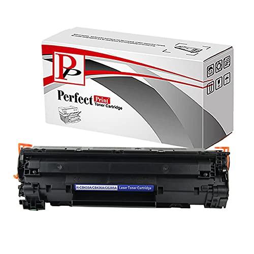 Perfectprint cartuccia di toner di ricambio per HP LaserJet Pro M1132MFP M1212nf M1214NFH M1217nfw CE285A (nero)