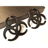 【TERA】 BIOHAZARD バイオハザード 3D ステッカー デカール ステンレス エンブレム 重厚 存在感 カスタム (黒)