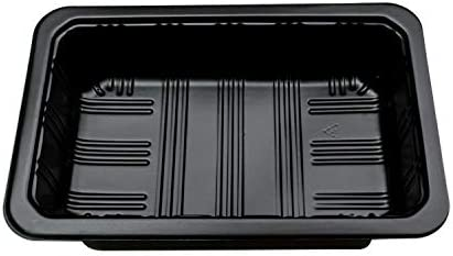 Durable 600 PCS Fruit de légumes à usage unique en plastique d'emballage frais de maintien Boîte plateau (Color : White) Black