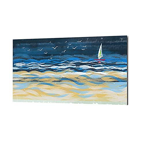 Pannello Radiante Infrarossi Murale di Paesaggio Radiatore di Calore con Telecomando Silenzioso, 600W,A