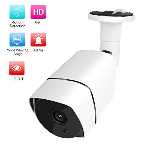 POE Beveiligingscamera, Waterdicht POE HD IP Bullet Camera Beveiligingsbewakingssysteem met Nachtzicht + Waterdicht + Ondersteuning Onvif((5 MP))