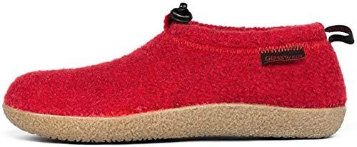Giesswein Vent 52/10/47849 - Zapatillas de casa de fieltro unisex, Rojo, 38