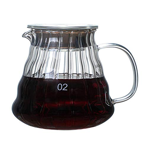Pour Over Glass Range Coffee Server Carafe Drip Coffee Pot Coffee Kettle Brewer Barista Percolator