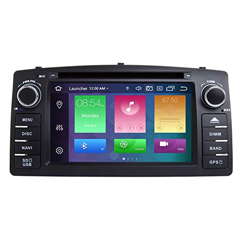 QIQIDIAN 4GB 64DSP 2 DIN Android 10 Radio De Coche Reproductor De DVD Multimedia Navegación GPS Compatible con T-oyota Corolla E120 BYD F3 2000 2003 2004 2005 2006,4 Core 16 ROM