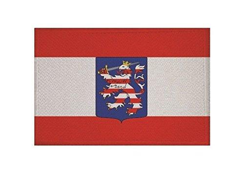 U24 Aufnäher Großherzogtum Hessen Fahne Flagge Aufbügler Patch 9 x 6 cm