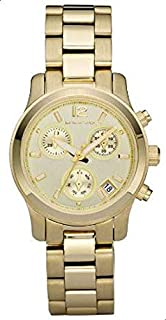Michael Kors Gold-tone Stainless Steel Chronograph Ladies Wa