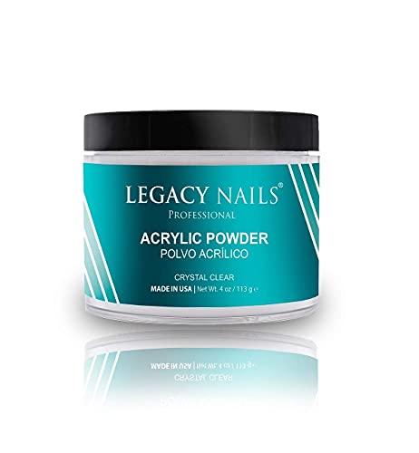 Legacy Nails Crystal Clear Acrylic Powder 4 oz
