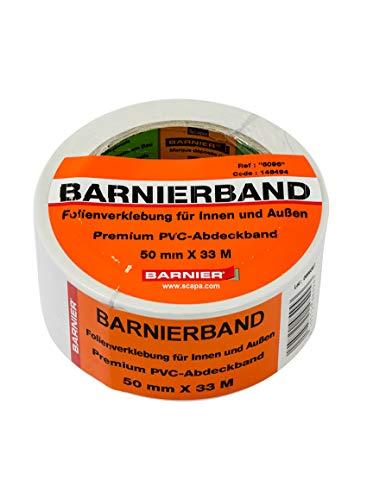 Barnier 6096 Putzerband 50 mm x 33 m Schutzband PVC-Schutzband Klebeband Putzerband Scapa