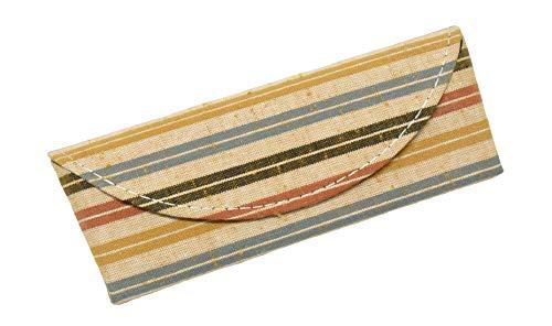 メガネケース サングラスケース 遠州綿紬 伝統工芸 メガネ入れ 眼鏡ケース めがねケース (黄葉/23)