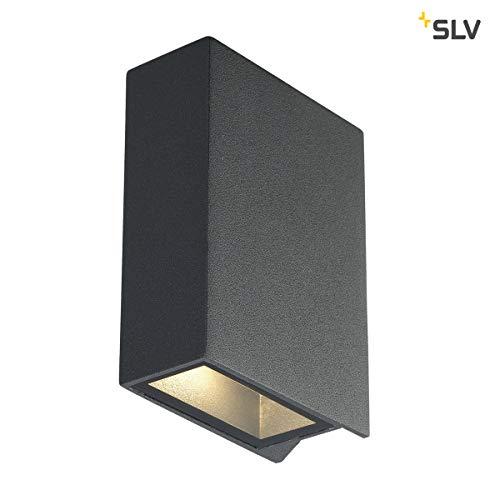 SLV Quad 1 wandlamp, hoekig, LED