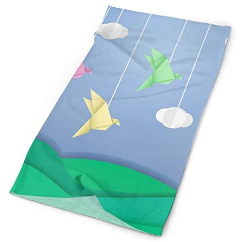 Pengyong Origami - Bufanda Unisex de Microfibra de Secado rápido para Exteriores, Cuello mágico, Bufanda con Capucha, Mango Supersuave