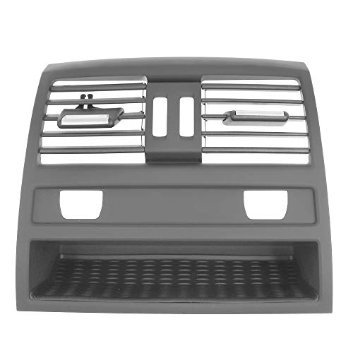 AIOFOGXC Vordere Zeile Wind Links/Mitte/rechts/hintere Klimaanlage Entlüftungsgrillaustritt Panelplatte/Fit for BMW 520D F10 F18 F11 (Color Name : Rear with Hole)