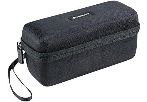 Caseling Custodia rigida da viaggio per speaker portatile Bose SoundLink Mini, e Bose Soundlink Mini II, spazio per caricatore e base di ricarica incluso Compatibile con il case morbido in silicone Bose.