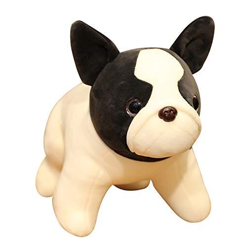 Bulldog bambola cucciolo ragdoll cane cane peluche regalo ragazzo nero 35 cm