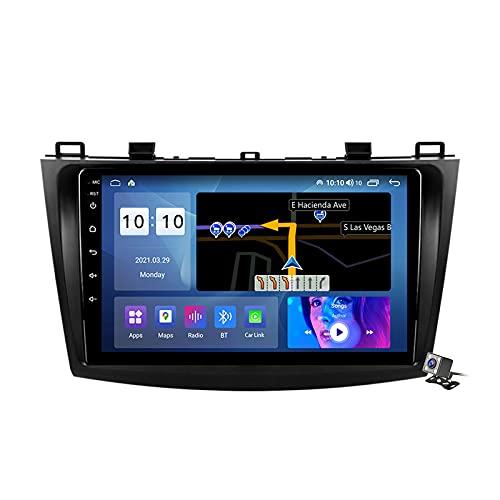 Android 10 Autoradio multimediale con 9 Pollici Screen per Mazda 3 2004~2013 Supporta la Navigatore GPS/DSP Stereo Auto BT/FM AM RDS Radio/Controllo del Volante/Carplay Android Auto,2004~2009,M500