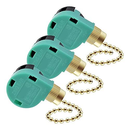 FANERS Paquete de 3 Interruptores para Ventilador de Techo, Control de Velocidad de Repuesto para Luz de Ventilador de Techo, LáMparas de Pared, Luz de Armario una ZE-268S6