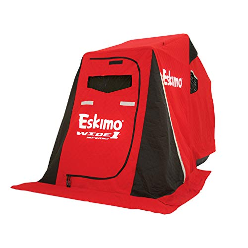 """Eskimo 15350 Inferno Wide 1 Inferno Insulated Portable Ice Fishing Shelter with 50"""" Sled & Swivel Seat, 1 Person"""
