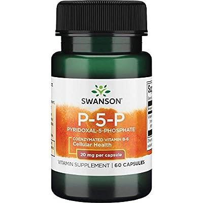 Swanson P-5-P (Pyridoxal-5-Phosphate) Coenzymated Vitaminb-6 20 Milligrams 60 Capsules