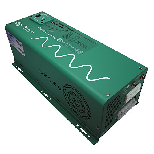 AIMS Power PICOGLF25W12V120AL Green 2500W Power Inverter Charger with Transfer Switch (12VDC to 120VAC)