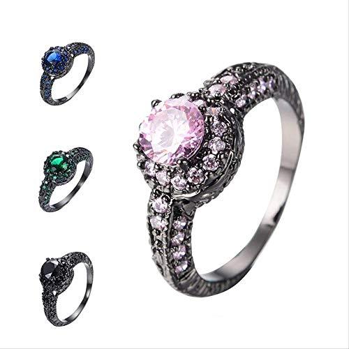 IWINO Ring Vrouw 925 Sterling Zilver Gemaakt Ronde Emerald Engagement Ring Verjaardag Meisje Vriend Fijn Gift Merk Sieraden