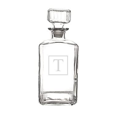 Cathy's Concepts Personalized Whiskey Decanter, Letter T