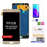 Pantalla LCD TFT de repuesto para Samsung Galaxy J5 2016 J510 J510F J510F/DS J510G/DS 5,2 pulgadas, digitalizador de pantalla táctil (no original AMOLED) (dorado)