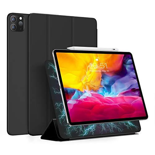 BENKS Magnetische Hülle für iPad Pro 11 Zoll 2021 (3.Generation), Kompatibel Mit Apple Pencil 2, Auto Schlaf-/Weckfunktion, Trifold Ständer, Dünn Leicht Ständer Smart Cover, Schwarz