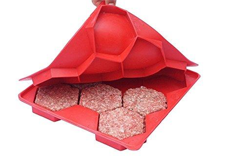 Wuzmei Burger Press Premium 8 en 1 rapide et facile Hamburger Patty Maker, parfait pour barbecue, 100% sans BPA contrôle des portions Gadgets et anti-adhésif à nourriture, confectionner, Freeze et stocker galettes