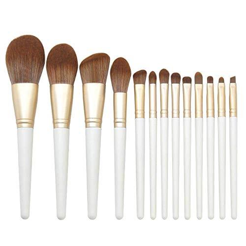 Maquillage de brosse de maquillage professionnel brosse 13 Pcs riz blanc poignée en bois brun fibre de maquillage Brosse à cheveux couverture BTZHY