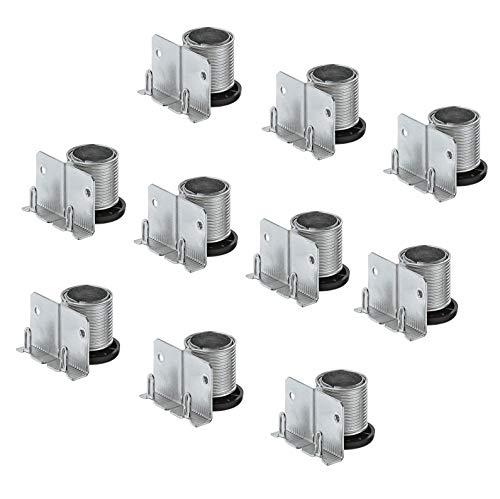 Gedotec Sockelfüße Sockel-Höhenversteller zum Einbohren & Schrauben | Tragkraft 150 kg | Sockel-Verstellfuß Stahl massiv | +20 mm höhenverstellbar | 20 Stück - Möbelfüße Küche mit mit Auflagewinkel