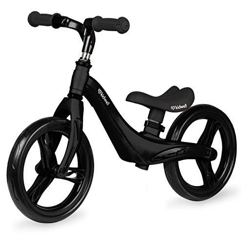 KIDWELL FORCE Kinder Laufrad ab 2 Jahren   Gleichgewichtstraining Balance Lauffahrrad mit leicht (2,56kg) Magnesiumkonstruktion   12 Zoll EVA-Schaumräder   Schwarz