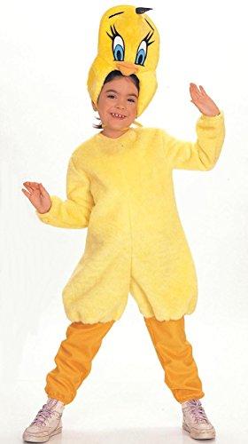 Looney Tunes Tweety Deluxe Kostüm Kinder Vogel Bugs Bunny Sylvester Gr. T - M, Größe:S
