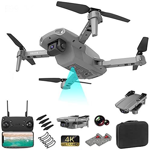 ZHENDUO Drone E99 Pro con fotocamera pieghevole Drone WiFi FPV lunga durata di volo 2 Kamara trasmissione in tempo reale per principianti adulti (grigio)