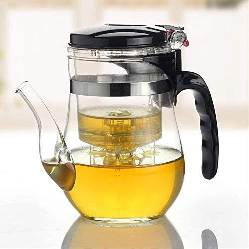 Pyrex Ensemble de thé 500 ml avec théière, fleur, bouilloire, théière, théière, bureau pratique