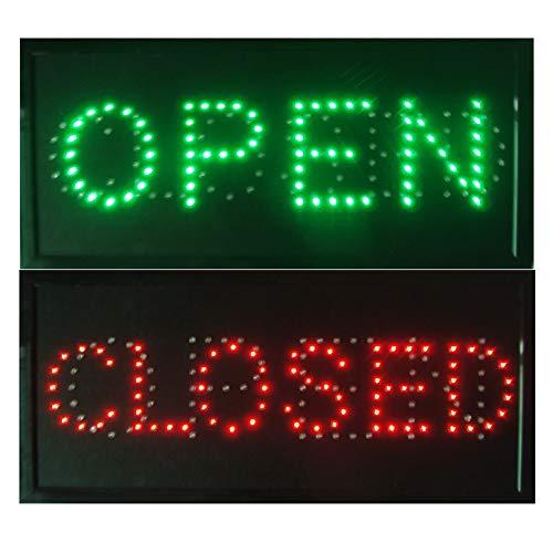 CHENXI Open & Closed 2 en 1 LED Sign Store Neon Business Bar Shop - Interruptor de encendido y apagado (48 x 25 cm, abierto y cerrado)