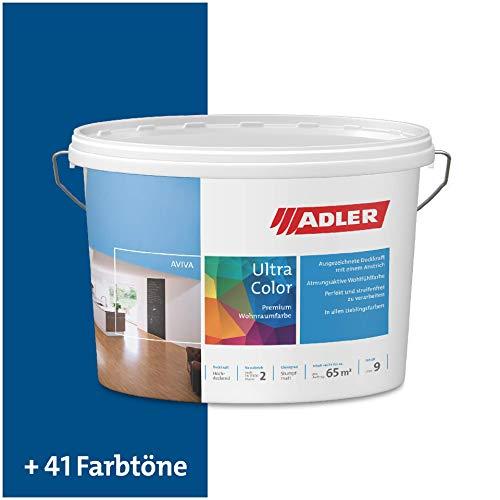 ADLER Ultra-Color Wandfarbe - Volltonfarbe und Abtönfarbe in 100+ Farbtönen - Hitradio C12 153/1 Blau 1 l Atmungsaktiv, Hochdeckend, Lösungsmittelfrei