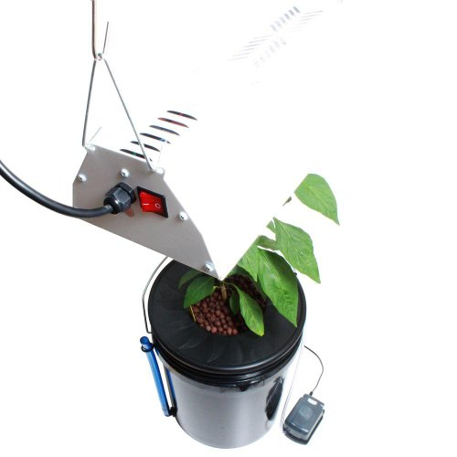 Viagrow V1DWCKIT Black Bucket Deep Water Culture DWC Hydroponic System with Grow Light and Timer