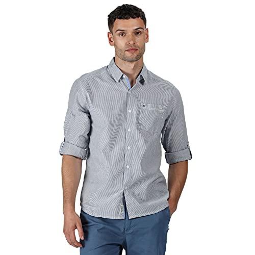 Regatta Chemises Manches Longues Banning 100% Coton avec Poche Poitrine Shirts Homme, Ticking Stripe, FR (Taille Fabricant : XL)