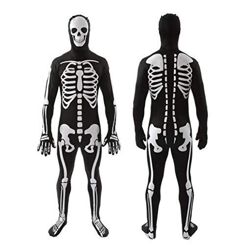 Z&X Vrouwen Halloween bot A-Fied Babe Skelett Jumpsuit kostuum/Halloween kostuum familie papa, mama, kind/Halloween Ghost Doll