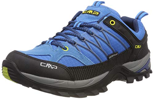 CMP – F.lli Campagnolo Herren Rigel Low Shoe Wp Trekking- & Wanderhalbschuhe, Türkis (Indigo-Marine 02lc), 43 EU