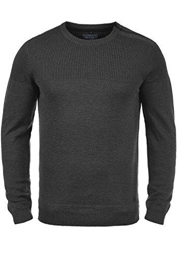 BLEND Franklin Jersey De Punto Suéter para Hombre con Cuello Redondo con Cremallera De 100% Algodón
