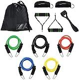 Bandas de resistencia 11Pcs / Set Yoga Pilates Crossfit Equipo de gimnasia Cuerda de tracción elástica Entrenamiento integral Conjunto de tubos de látex